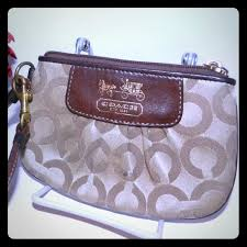 Coach Madison brown gold leather signature C print