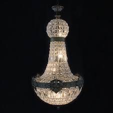 enchantingrench empire crystal chandelier lighting vintageor restoration h72 x w50 19th century french black s h50