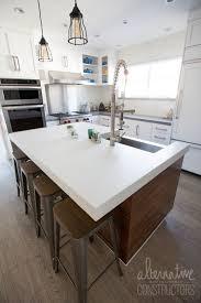 concrete kitchen island countertop