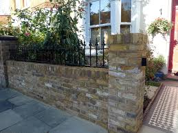 Small Picture london front garden yellow stock brick wall with struck pointing