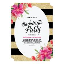 bachelorette party invite floral glam bachelorette party invitation zazzle com