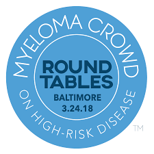 myeloma crowd round tables on high risk disease are day long patient education meetings featuring world class experts to assist patients and caregivers to