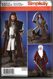 Medieval Tunic Pattern Magnificent SIMPLICITY 48 Men's MedievalDwarfHobbit Jacket Tunic Costume