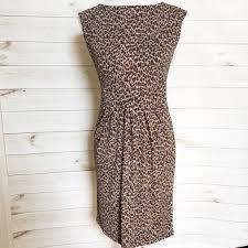 Talbots Dress Size Chart Talbots Animal Print Leopard Dress Classic Xs