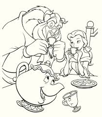 Small Picture Free Coloring Pages Beauty And The Beast