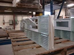 prefabricated glass block windows using the mortar method