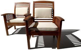 com strathwood gibranta all weather hardwood arm chair set of 2 patio lounge chairs garden outdoor