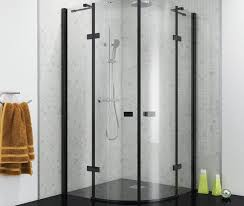 black framed shower enclosures