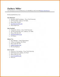 Professional References Page Template Resume Cover Letter Example 19