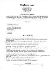 1 Auditor Resume Templates Try Them Now Myperfectresume