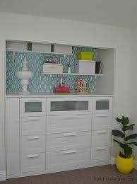office with diy built in cabinets