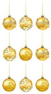 The Twiddlers 9er Set Christbaumkugeln In Gold Im Glitzer Glänzend Design Glitter Weihnachtskugeln Und Christbaumschmuck Festliche