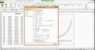 forecast model in excel excel charts creating a revenue forecast youtube