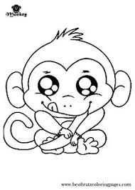 Small Picture Cartoon Monkey Coloring Pages for Kids Enjoy Coloring Animals