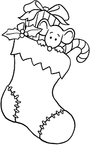 christmas stocking clip art black and white. Contemporary White Christmas Stocking With Gifts Coloring Page Throughout Black And  Clipart  Library Clip Art White T