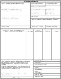 Proforma Format Sample Export Proforma Invoice Format Sample Proforma Invoice For Export