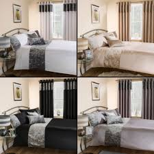 details about luxury crushed velvet quilt duvet cover bedding set cream silver black white