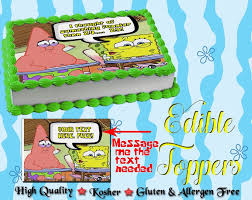 Whats Funnier Than 24 Spongebob Squarepants Cake Topper Edible