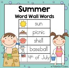 words free download this free download includes 25 printable summer word wall words