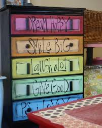 chevron painted furniture. Unpainted Dresser Ideas | Chevron Tutorial And Other Fun Spray Painted Furniture Art .