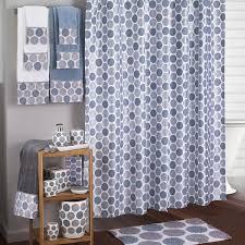 dotted circles shower curtain bath accessories by avanti linens