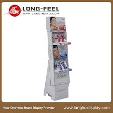 Cardboard Book Display Stands Long Feel POS Corrugated Cardboard Display Stand for Shoes 48