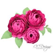 Paper Flower Designs Peony Paper Flower Template
