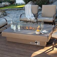 new patio fire pit table
