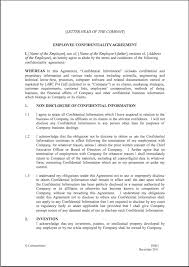 Employee Confidentiality Agreements employee non disclosure agreement template non disclosure agreements 2