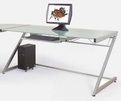 uncategorized simple computer desk with solid aluminium stand and images awesome glass table in for comp