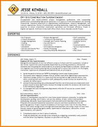 Construction Resume Sample Awesome Construction Superintendent
