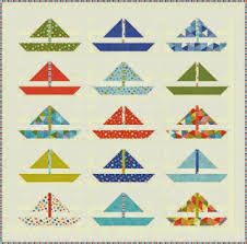 Quilt Inspiration: Free Pattern Day: Sailboats & Barnegat Bay quilt, 64 x 80