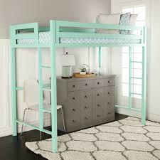 Amazon WE Furniture Premium Twin Metal Loft Bed Mint