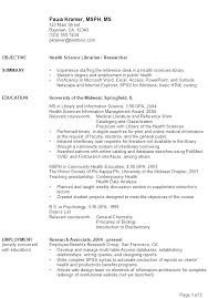 Sample Resume Health Science Librarian Researcher ...