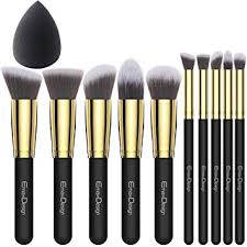 emaxdesign 10 1 pieces makeup brush set 10 pieces professional foundation blending blush eye