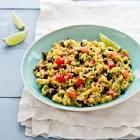 black bean   yellow rice salad