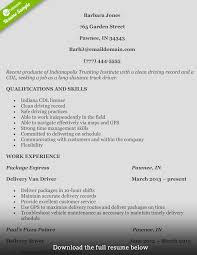How To Write A Perfect Truck Driver Resume With Examples Brilliant