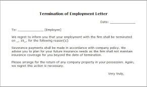 Firing Letter Free Printable Letter Of Termination Form Generic