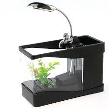 office desk fish tank. Contemporary Desk 3 In 1 Mini Crystal USB Fish Tank Aquarium Office Desk Lamp Pen Holder   EBay In F