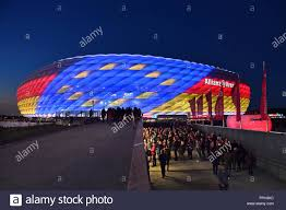 Bayern Munich Stadium Lights Allianz Arena With Special Lighting On Application Decision