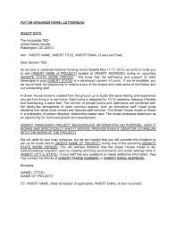 policy maker letter template form the green house project
