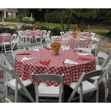 red and white checd tablecloth