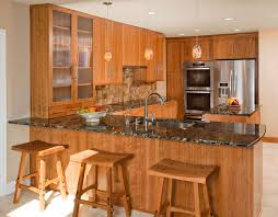 new kitchen designs. American Cherry With A Clear, Natural Finish Gives This Contemporary Design In Fort Washington, PA Enduring Presence. The New Kitchen Features Cosmic Black Designs