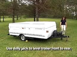 fleetwood folding camper set up
