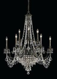 imposing wrought iron crystal chandelier benita antique black 4 light iron orb crystal chandelier