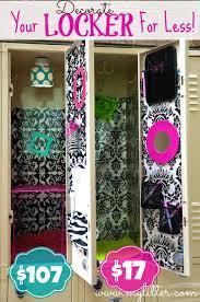 decorating a school locker