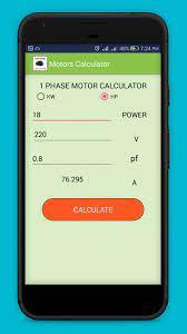 Android için Motor Hesap Makinesi: kablo boyutu hesaplayıcısı - APK'yı İndir