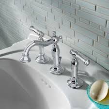 brushed chrome bathroom faucets. Bathroom Sink Faucets - Quentin 2-Handle 8 Inch Widespread Faucet Polished Chrome Brushed E