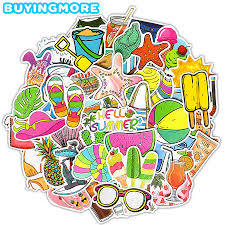 <b>50 PCS Summer Style</b> Sticker Travel Sunlight Beach Vsco Girl Cute ...