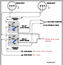 teamswift • view topic headlight relay mod pics version 1 0 the blue lines are what fordem said wireing pin 85 to a source rather then ground
